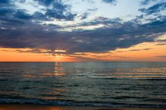 Summer sunset over Grand Bend, Ontario, Canada Royalty Free Stock Photos