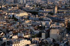 Summer Sunset in Paris Royalty Free Stock Photos