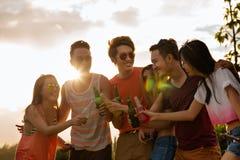 Summer sunset party Stock Photos