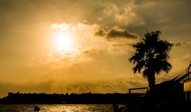 Summer sunset, Quarto, Genoa Royalty Free Stock Photo