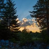 Summer sunset scene Stock Photography