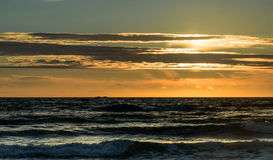 Summer Sunset at Sooes Beach. August sunset at Sooes Beach, Washington just south of Cape Flattery Stock Photo