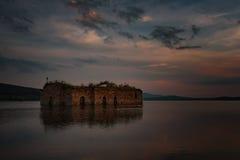 Summer sunset at Zhrebchevo Dam, Bulgaria Stock Images