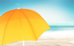 Summer with a sunshade Royalty Free Stock Photos