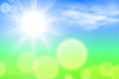Summer sunshine background Stock Image