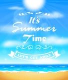 Summer sunshine background Royalty Free Stock Photo
