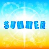 Summer sunshine background Royalty Free Stock Photos