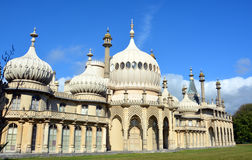 Summer Sunshine on Towers of The Royal Brighton Pavilion. Royalty Free Stock Photos