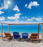 Summer sunshiny pebble beach. Royalty Free Stock Image
