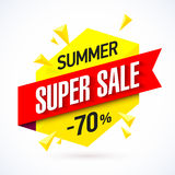 Summer super sale banner Royalty Free Stock Photos