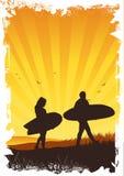 Summer Surf Background stock illustration