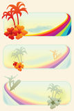 Summer surf banners Stock Images