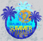 Summer surf typography, t-shirt graphics, vectors. Fashion style Royalty Free Stock Photos