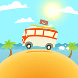 Summer Surfing Illustration Royalty Free Stock Images
