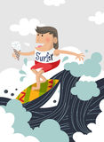 Summer surfing Stock Photo