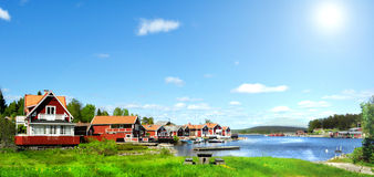 Summer in Sweden. Photo of typical swedish summer environment Stock Image