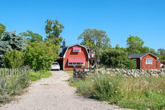 Summer in Sweden. Djupvik, Sweden - July 13, 2017: Djupvik on the west coast of Swedish Baltic sea island Öland. Öland is a popular tourist destination in Stock Photo