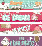 Summer Sweets Banners. Four type of Summer Sweets Banners Royalty Free Stock Photo