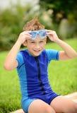 Summer swim child royalty free stock photo