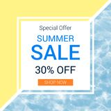 Summer swimming pool background promo sale banner Royalty Free Stock Photos
