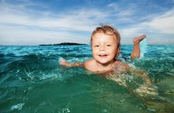Summer, swimming, vacation, kid stock photos