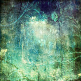 Summer Swirl. A grunge background of summer vines and flowers with texture Stock Photography