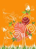 Summer Swirl Tree - Illustration Royalty Free Stock Image