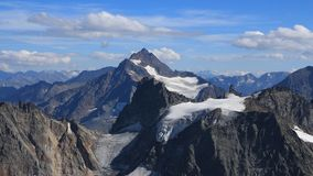 Summer in the Swiss Alps, view from mount Titlis. Royalty Free Stock Images
