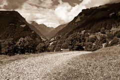 Summer in the Swiss mountains - Bernese Alps Stock Images