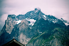 Summer in the Swiss mountains - Bernese Alps Stock Photo