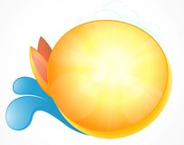 Summer symbol abstract background Royalty Free Stock Photography