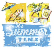 Summer symbols Stock Image
