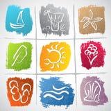 Summer symbols Royalty Free Stock Images