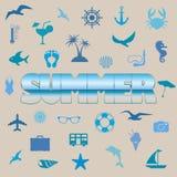Summer symbols Stock Images