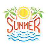 Summer symbols white background, Vector Royalty Free Stock Photos