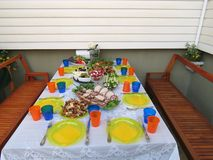 Summer table Royalty Free Stock Photo