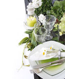 Summer table setting Stock Photos