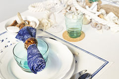 Summer table setting. For lunch Stock Images