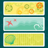 Summer tags with place for your text Stock Photos