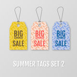 Summer tags set. Sale sticker with special advertisement offer. Royalty Free Stock Photography
