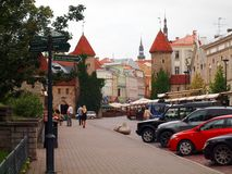 Summer Tallinn in the early morning Royalty Free Stock Photo