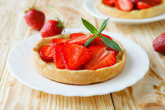 Summer tartlet with strawberries Stock Photography