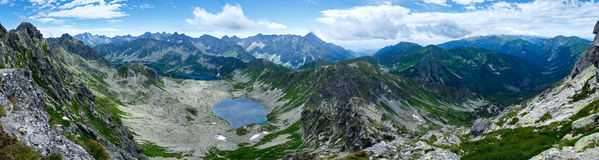 Summer Tatra Mountain panorama, Poland Stock Images