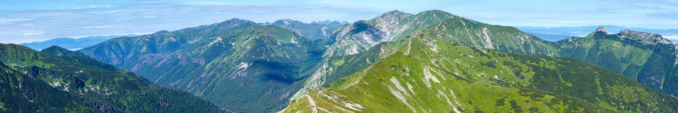 Summer Tatra Mountain ponarama, Poland. Royalty Free Stock Photos