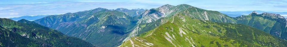 Summer Tatra Mountain ponarama, Poland. Royalty Free Stock Photos