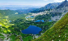 Summer Tatra Mountain top view, Poland. Stock Photo