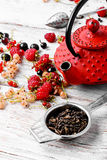 Summer tea with berries Royalty Free Stock Images