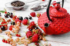 Summer tea tea with berries Royalty Free Stock Images