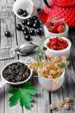 Summer tea tea with berries Stock Photo