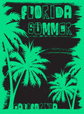 Summer tee graphic design florida california Stock Image
